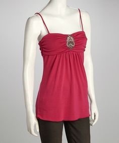 Take a look at this Magenta Jewel Tank by Delirious Apparel on #zulily today!