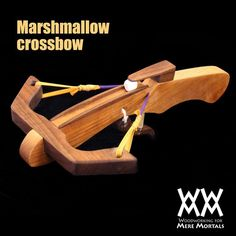 Woodworking for Mere Mortals: Free woodworking videos and plans. : Make a marshmallow crossbow.