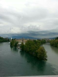 Jonction between the Rhone and the Arve river, Geneva - Switzerland
