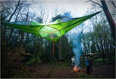 Best idea ever. Tentsile camping tent. Mix between a hammock and a tent!