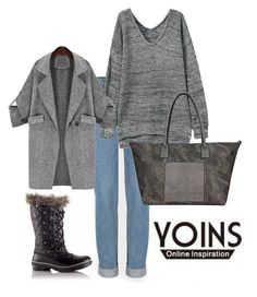 """""""YOINS"""" by hanifasemic ❤ liked on Polyvore featuring SOREL and yoins"""