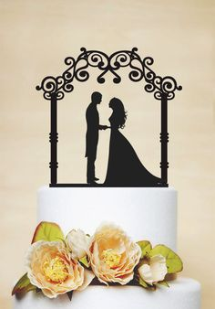 Wedding Cake TopperBride And Groom Cake by AcrylicDesignForYou