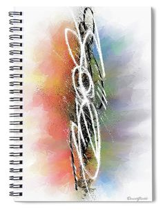 """This x spiral notebook features the artwork """"Creating reality from the thought"""" by Daniel Ghioldi on the cover and includes 120 lined pages for your notes and greatest thoughts. Spiral Notebook Covers, Spiral Notebooks, Notebooks For Sale, Shapes, Paint, Thoughts, Crystals, Create, Artwork"""