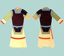 Vestimente de Guerrero de la Etnía Han.
