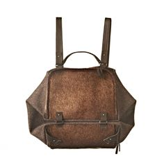 Eva Blut - Cube Bag - in calf fur and austrian loden (wool) - backpack and handbag Leather Backpack, Leather Bag, Calves, Cube, Archive, Fall Winter, Backpacks, Wool, Detail