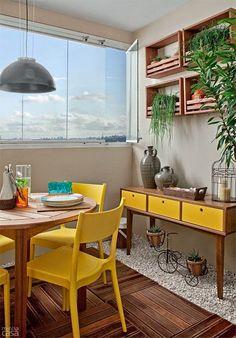 ideia de piso: deck madeira com pedrinhas