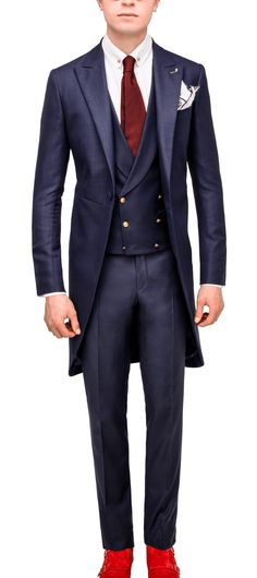 Vitale Barberis Cutaway, Morning Coat, Double Breasted Suit, Mens Suits, Suit Jacket, Jackets, Wedding, Outfits, Fashion