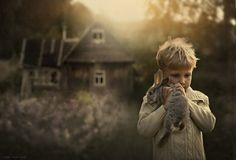 Farmer's sweetly mystical portraits of her boys and their animals [10 pictures]  (Just when you think they can't get any sweeter, you scroll down and are proved wrong)