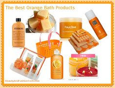 Orange Bath and Shower Products  Recommended by: DanCamacho.com/products