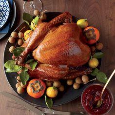 Soy-Sauce-and-Honey-Glazed Turkey / Image via: Food and Wine #entertaining