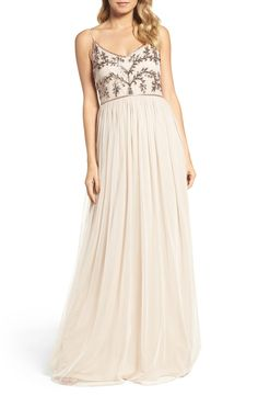 H and m maxi evening dress embroidery