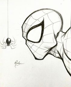 Chibi SpiderMan Marker by Stéphanie Forbes Cool Art Drawings, Pencil Art Drawings, Art Drawings Sketches, Disney Drawings, Cartoon Drawings, Easy Drawings, Drawing Cartoon Characters, Bff Drawings, Graffiti Drawing
