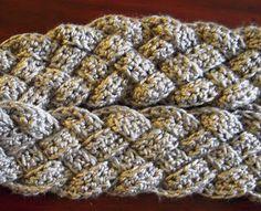 5 Strand Braided Crochet Infinity Scarf.