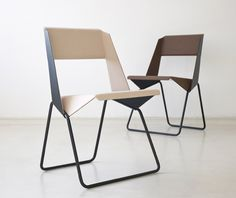 bent sheet metal chair by botther+henssler Design Furniture, Metal Furniture, Chair Design, Modern Furniture, Multifunctional Furniture, Furniture Market, Design Loft, Home Design, Design Design