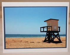 photo card Sunset Beach California lifeguard by RoadAheadPhotos