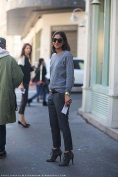 Complacency Kills: Style Spotlight: Capucine Safyurtlu...grey