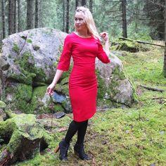 Retroklänning 50-tal Linnea Röd