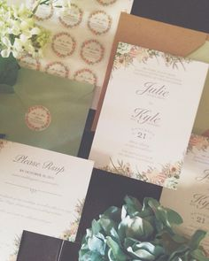 Muted Florals wedding suite by Chelsea Creations Design