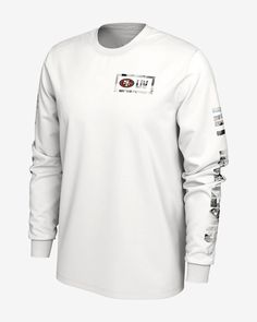 It's made with sweat-wicking technology to help keep you dry and comfortable, and diamond detailing at the chest and down the sleeves is inspired by the coveted Super Bowl ring. Nfl Chiefs, Nfl 49ers, Kansas City Chiefs, 49ers Super Bowl, Chiefs Super Bowl, Football Outfits, Men's Football, Nike Dri Fit, 49ers Jacket