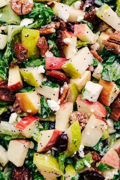 Autumn Chopped Salad with Creamy Poppyseed Dressing – Gesundes Abendessen, Vegetarische Rezepte, Vegane Desserts, Lettuce Salad Recipes, Chopped Salad Recipes, Salad Dressing Recipes, Salad Dressings, Autumn Chopped Salads, Fall Salad, Winter Salad, Pecan Chicken Salads, Pear Salad