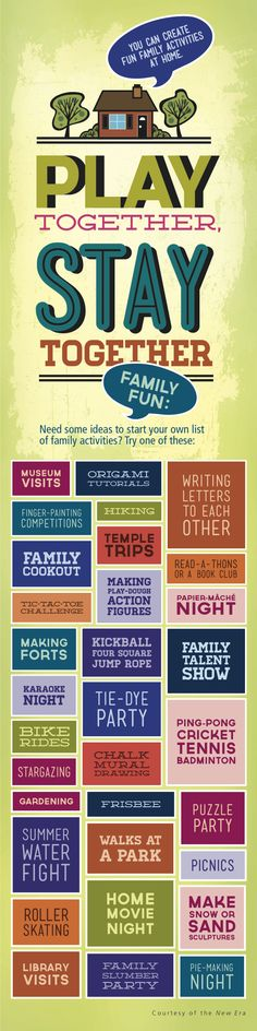 Looking for fun, creative family activities? Check out these ideas from the New Era!