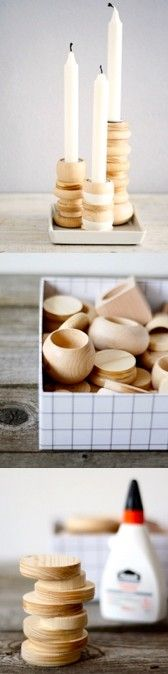 Via Sinnenrausch | DIY Wooden Candle Holder