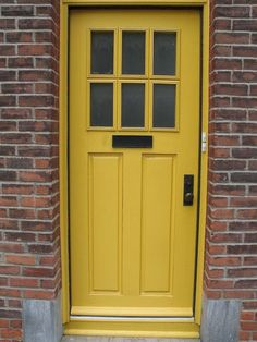 Fantastic yellow brick home decor ideas front door Ruth Yellow Brick Home Decor Ideas For Front Door Inspirational 33 Fantastic Yellow Brick Home Decor Ideas Home Decoration Ideas 51 Yellow Brick Home Decor Ideas For Front Door House Front Door, Yellow Doors, Painted Doors, House Front, Victorian Front Doors, Entry Doors, Yellow Front Doors, Doors, Red Brick House