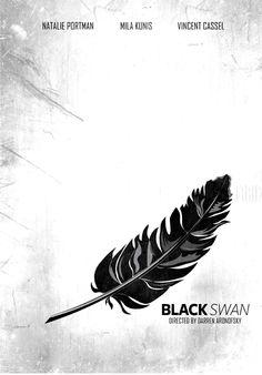 Black Swan (2010) ~ Minimal Movie Poster by Fariza Stromblad #amusementphile