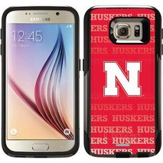Nebraska Repeating Design on OtterBox Commuter Series Case for Samsung Galaxy S6