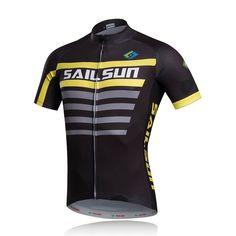 Hot SAIL SUN Men Pro Cycling Jersey Top Black Yellow mtb Bike Bicycle Clothing Ropa Ciclismo Shirts Cycling Shirts Quick dry