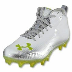 172005b105ed Under Armour Nitro III Mid MC - White/Silver/Velocity. Built for speed from  every angle. UPPER: One-piece engineered synthetic for lightweight