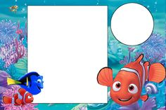 Nemo - Complete Kit with frames for invitations, labels for snacks, souvenirs… Free Birthday Invitations, Twins 1st Birthdays, Birthday Pictures, Invitation Cards, Invitation Ideas, Invitation Templates, Invite, Finding Dory, Finding Nemo