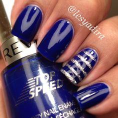 Royal blue nail polish  UK Wildcat Blue  Go KY