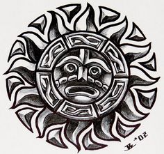 aztec sun tattoo 192