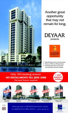 Deyaar : Its one of our Media Campaigns or Advertising Artworks or Design by BrandTag, Dubai-UAE