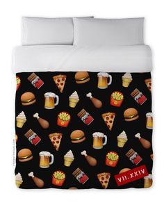 Junk Food Emoji Blanket - Listed on Etsy