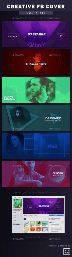 DJ New Creative Facebook Cover Templates PSD
