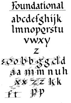 roundhand.jpg foundational hand, calligraphy