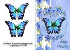True Blue on Craftsuprint designed by Gail Collins - a very pretty blue card…