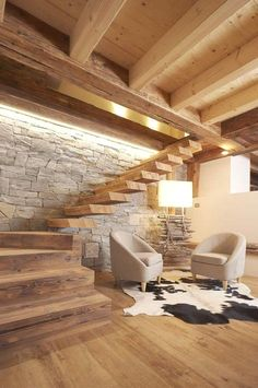 Wohnzimmer Inspiration - Wohnzimmer Inspiration - Best Picture For interior Stairs For Your Taste You are looking for something, Room Interior, Interior Design Living Room, Design Interiors, Chalet Interior, Interior Stairs, Home Deco, Interior Design And Construction, Staircase Design, Living Room Inspiration
