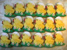 veľkonočné, veľkonočné | Medovníky Artmama.sk Duck Cookies, Cupcake Cookies, Easter Cupcakes, Easter Cookies, Easter Cake, Christmas Sugar Cookies, Cookie Frosting, Holiday Cakes, Holiday Baking