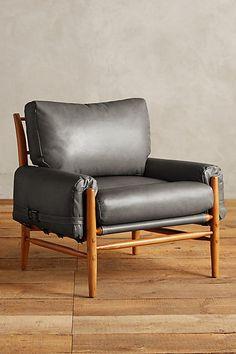 Leather Rhys Chair - anthropologie.com
