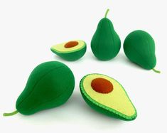 Avocado soft toy for children felt fruit vegetables garden toys play kitchen game Toys For Girls, Kids Toys, Baby Toys, Harvest Kitchen, Felt Fruit, Strawberry Baby, Kitchen Games, Pretend Food, Pretend Play