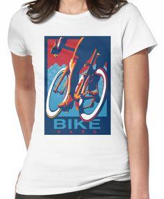 'Retro styled motivational cycling poster: Bike Hard' T-Shirt by SFDesignstudio Beginner Triathlete, Buy Bike, Mountain Bike Shoes, Road Bike Women, Bicycle Maintenance, Retro Stil, Cool Bike Accessories, Bike Seat, Sport Bikes