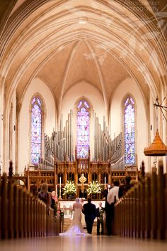 Anna and Spencer Photography, Church Wedding Ceremony, The Cathedral of St. Philip Atlanta