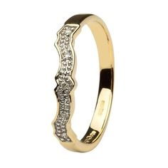 Diamond set Matching Wedding ring for (14L68)   #Shanore #Wedding #Celtic