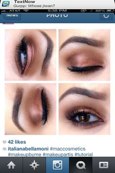Eyebrow shape and eyeshadowing ★