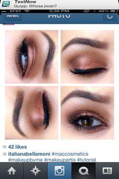 Eyebrow shape and eyeshadowing ★