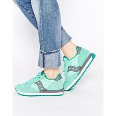 watch 401a0 a0004 Saucony Jazz Mint Trainers (645 DKK) ❤ liked on Polyvore featuring shoes,  sneakers, mint, saucony trainers, cushioned shoes, mint green sneakers, ...