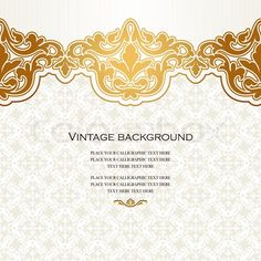 Vintage vector card in islamic style seamless lace ornament border islamic decorative patterns google search stopboris Choice Image